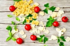Modello degli ingredienti della pasta Immagine Stock