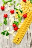 Modello degli ingredienti della pasta Fotografie Stock