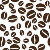 Modello dei chicchi di caffè illustrazione vettoriale