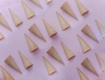 Modello dei coni gelati Fotografia Stock Libera da Diritti