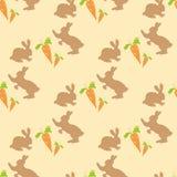 Modello dei conigli e delle carote royalty illustrazione gratis