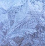 Modello dei cristalli di ghiaccio Immagini Stock
