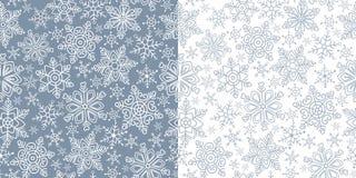 modello dei fiocchi di neve Fotografia Stock