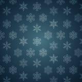 Modello dei fiocchi di neve di inverno. Fotografia Stock