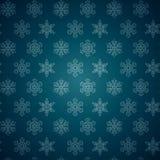 Modello dei fiocchi di neve di inverno. Immagine Stock