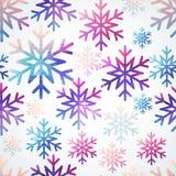 Modello dei fiocchi di neve di vettore Fiocco di neve astratto di forma geometrica Fotografia Stock Libera da Diritti
