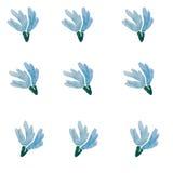Modello dei fiori blu su un fondo bianco Immagine Stock Libera da Diritti