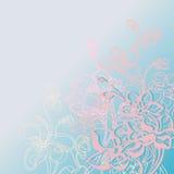 Modello dei fiori delicati di colore Immagini Stock