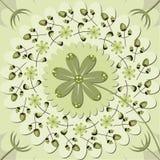 Modello dei fiori e delle foglie Illustrazione di Stock