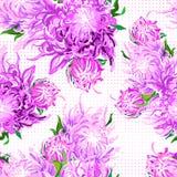 Modello dei fiori piony illustrazione vettoriale