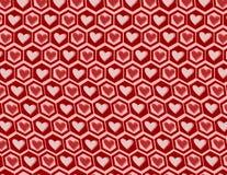 Modello dei grafici del cuore Fotografia Stock