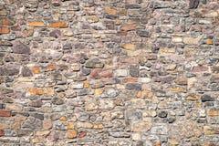 Modello dei mattoni e delle pietre alla vecchia parete di medio evo, Magdeburgo, immagine stock