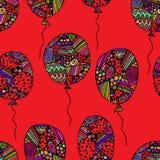 Modello dei palloni colorati asimmetrici Fotografia Stock