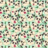 Modello dei panda allegri delle museruole Fotografia Stock