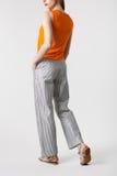 Modello dei pantaloni delle donne Fotografie Stock