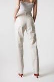Modello dei pantaloni delle donne Fotografia Stock