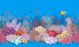 Modello dei pesci e di Coral Reef illustrazione di stock