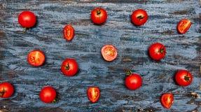 Modello dei pomodori ciliegia Fotografie Stock
