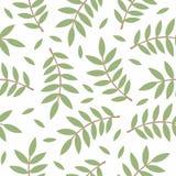 modello dei ramoscelli con le foglie Immagini Stock Libere da Diritti