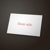 Modello del biglietto da visita a colori il lato uno Fotografia Stock Libera da Diritti