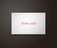 Modello del biglietto da visita a colori il lato uno Immagine Stock