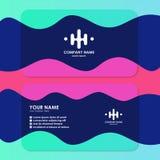 Modello del biglietto da visita con progettazione semplice illustrazione di stock