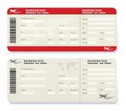 Modello del biglietto di linea aerea Immagine Stock
