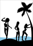 Modello del bikini   illustrazione vettoriale