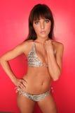 Modello del bikini Fotografie Stock