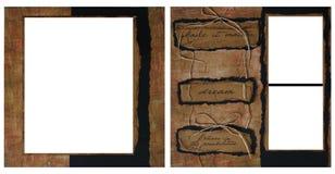 Modello del blocco per grafici dell'album dell'annata Fotografia Stock Libera da Diritti
