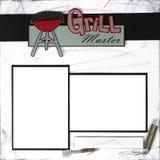 Modello del blocco per grafici di MasterGrill MasterScrapbook della griglia Immagine Stock Libera da Diritti