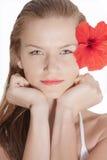 Modello del blonde di modo Fotografia Stock