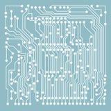 Modello del blu del microcircuito Immagini Stock Libere da Diritti