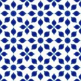 Modello del blu del fiore royalty illustrazione gratis