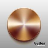 Modello del bottone rotondo con struttura bronzea del metallo Immagini Stock
