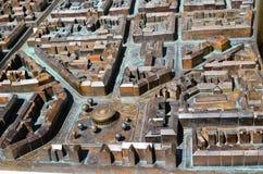 Modello del bronzo del centro urbano di Zagabria immagine stock libera da diritti