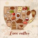 Modello del caffè e del tè di Dooodle Royalty Illustrazione gratis