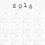 Modello 2015 del calendario Fotografia Stock Libera da Diritti