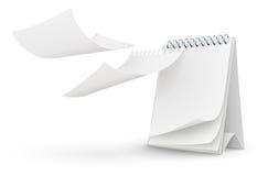 Modello del calendario con le pagine in bianco Fotografie Stock