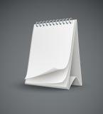 Modello del calendario con le pagine in bianco Fotografia Stock
