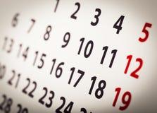 Modello del calendario dell'organizzatore, contesto Fotografie Stock