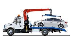 Modello del camion di rimorchio di vettore isolato su bianco Fotografie Stock Libere da Diritti