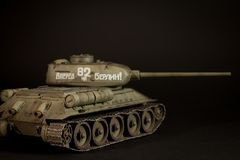 Modello del carro armato T-34/85 dell'Unione Sovietica Immagine Stock