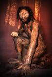Modello del Caveman Fotografia Stock Libera da Diritti