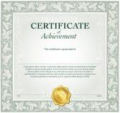 Modello del certificato illustrazione di stock