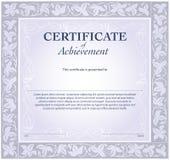 Modello del certificato illustrazione vettoriale