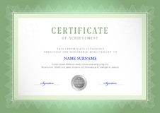 Modello del certificato Fotografia Stock Libera da Diritti
