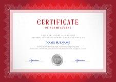 Modello del certificato Immagini Stock Libere da Diritti