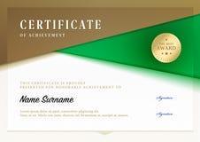 Modello del certificato Fotografie Stock