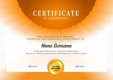 Modello del certificato Immagini Stock